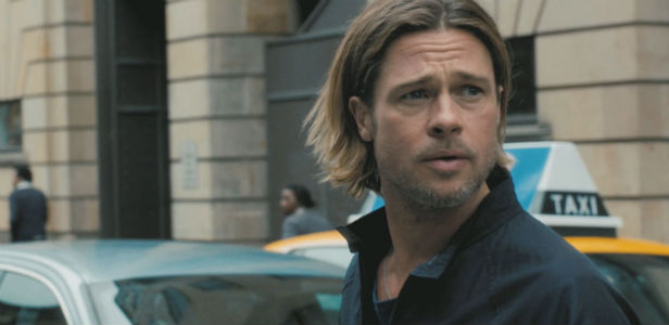 Brad Pitt showing justifiable cause for concern in World War Z