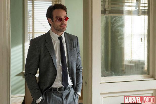 Charlie Cox at Matt Murdock in Daredevil