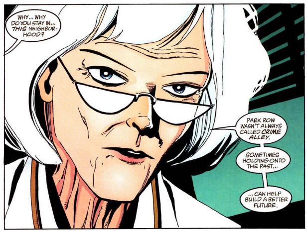 Dr Leslie Thompkins as she appears in the comics
