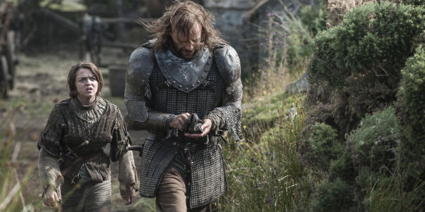 Game of Thrones Season 4 Arya Stark Sandor Clegane