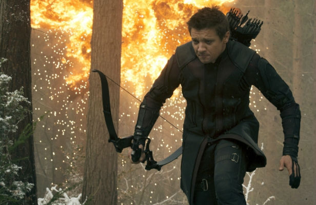 Jeremy Renner takes on some exploding trees in Avengers: Age Of Ultron