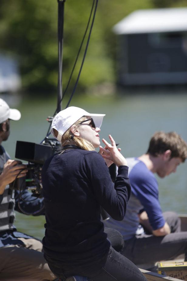Leigh Janiak on set