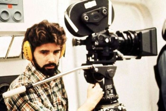 George Lucas on the set of the original Star Wars trilogy