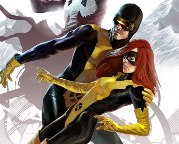 Young Cyclops and Jean Grey on the cover of X-Men: First Class issue 4 by artist Marko Djurdjevic