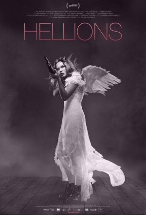 Hellions first poster has an angel with a shotgun