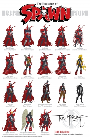 Spawn infographic shows 24 years of spikes & chains