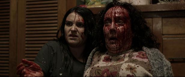 Morgana O'Reilly and Rime Te Wiata in Housebound