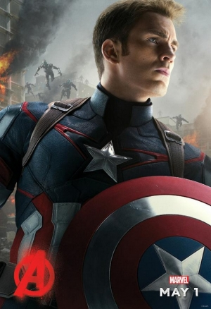 Avengers 2 Captain America character poster is patriotic
