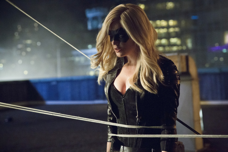 Caity Lotz as Black Canary in Arrow Season 3