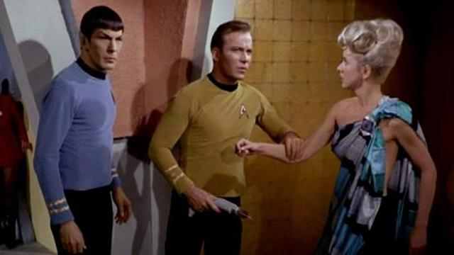 Nimoy and Shatner in 'The Corbomite Maneuver'