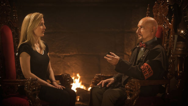 Gillian Anderson and Sir Ben Kingsley in Robot Overlords