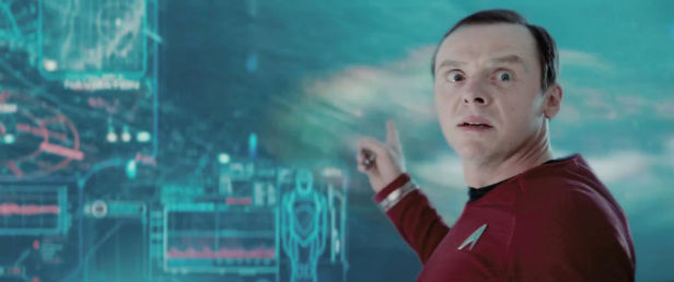 Simon Pegg in Star Trek Into Darkness