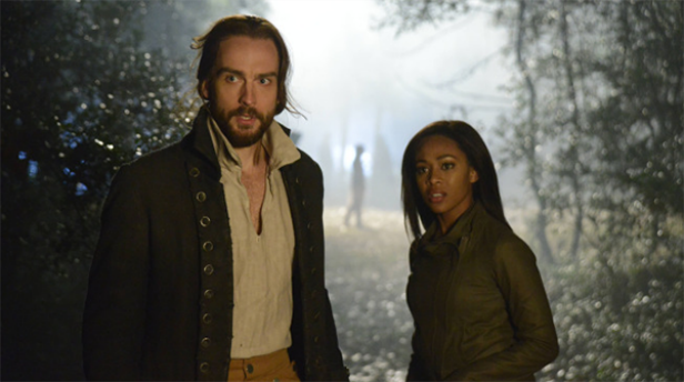 Tom Mison and Nicole Beharie as Ichabod and Abbie in Sleepy Hollow