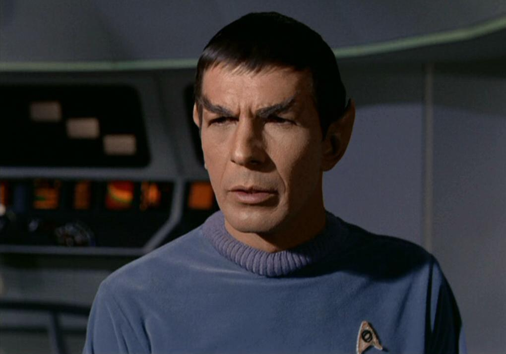 Nimoy in Star Trek's pilot episode 'The Cage'