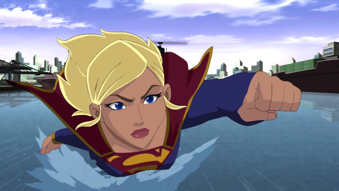 Supergirl as she appears in the Superman Unbound animated movie