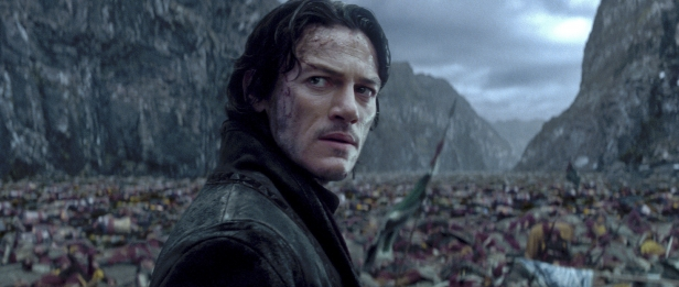 Handsome Luke Evans as the big daddy of the vampires in Dracula Untold
