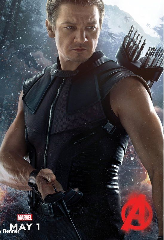 hawkeye character poster avengers 2 age of ultron