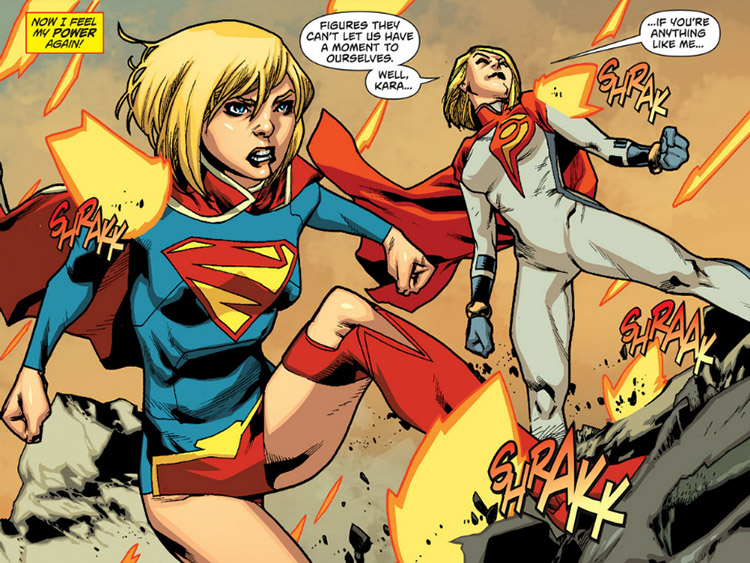 Supergirl as she appears in the New 52