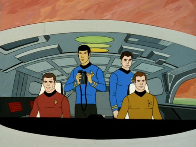 The cast of Star Trek: The Animated Series