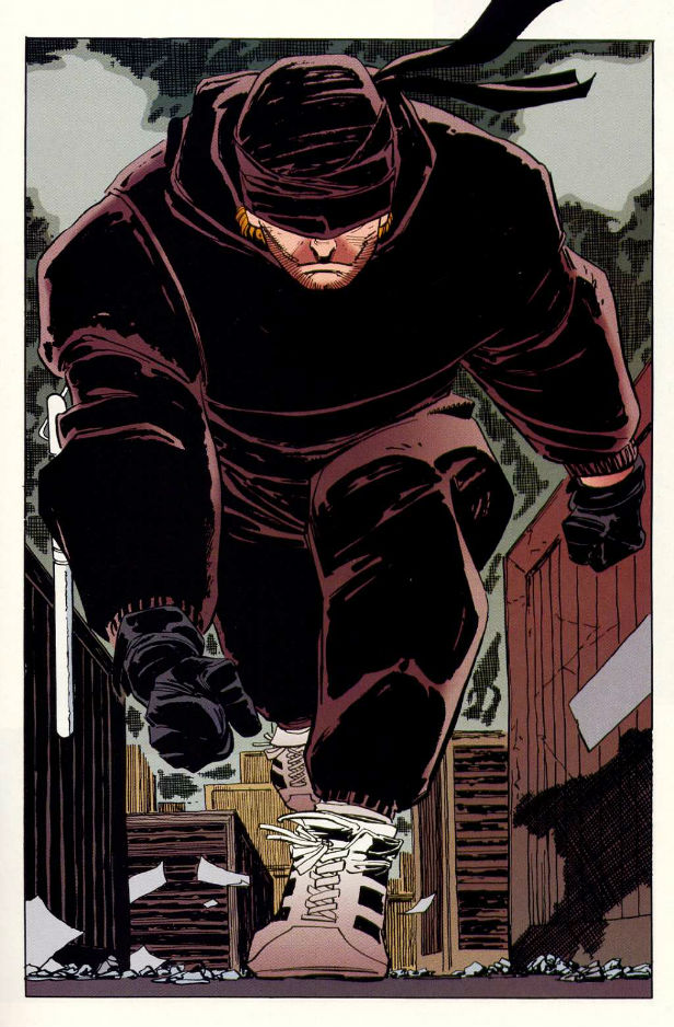 John Romita Jr's Daredevil-in-training costume from The Man Without Fear miniseries