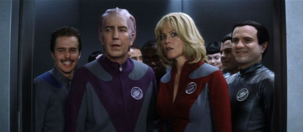The crew of the NSEA Protector meet the Thermians in Galaxy Quest