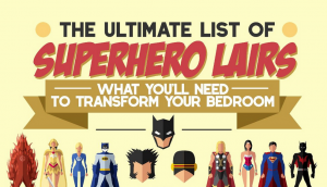 Plan your own superhero lair with this handy infographic