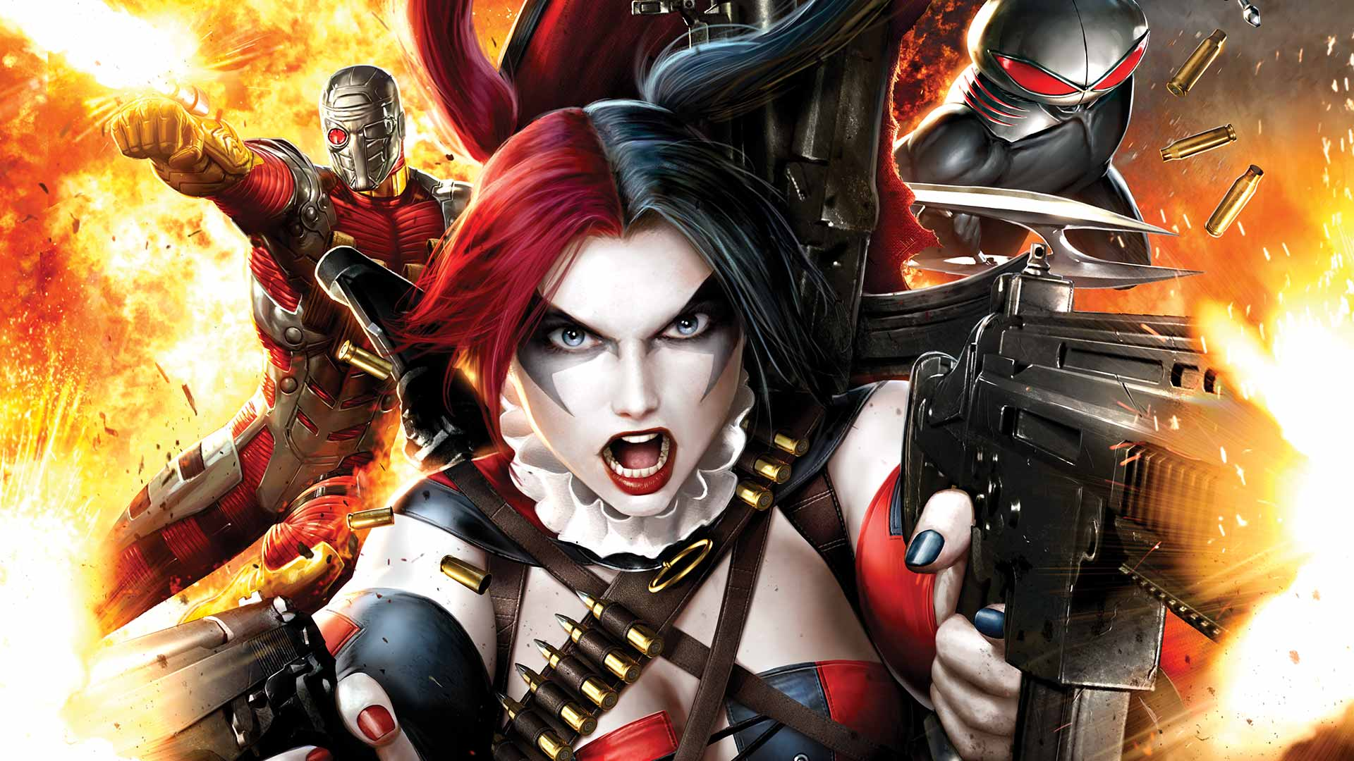 Deadshot and Harley Quinn on the cover of Suicide Squad #4