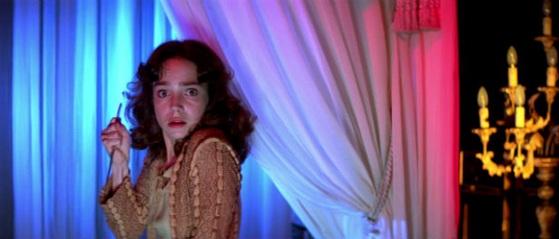 Jessica Harper tries to run and hide from Suspiria