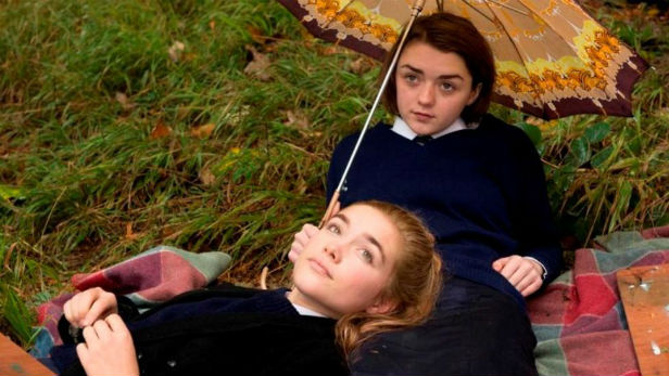Florence Pugh and Maisie Williams in The Falling