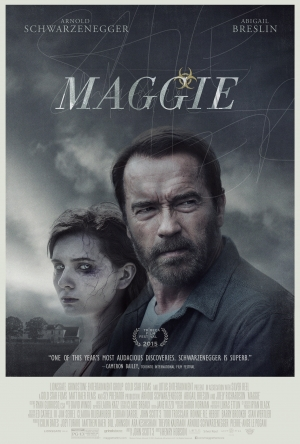 Maggie poster Arnie and zombie daughter look grim
