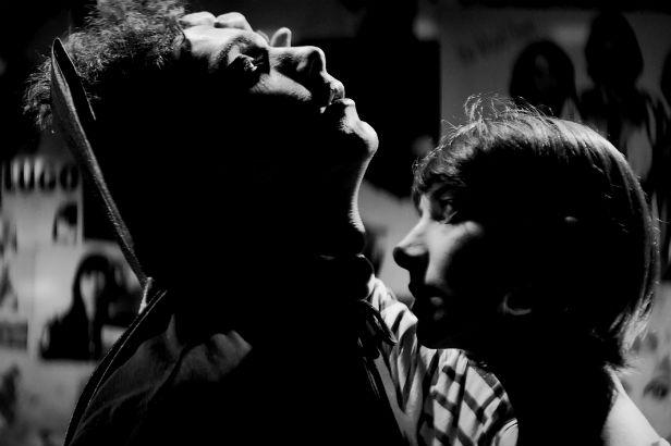 The Girl (Sheila Vand) gets close to Arash (Arash Marandi) in A Girl Walks Home Alone At Night