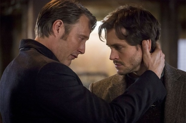 Mads Mikkelsen and Hugh Dancy in Hannibal