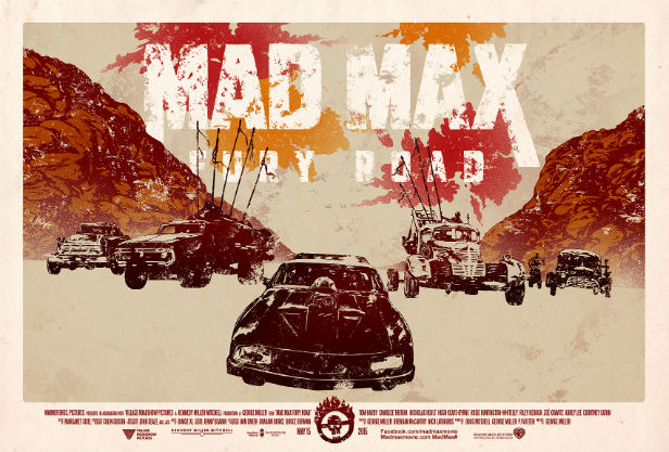 Johnny Dombroski's poster for Poster Posse's Mad Max: Fury Road project
