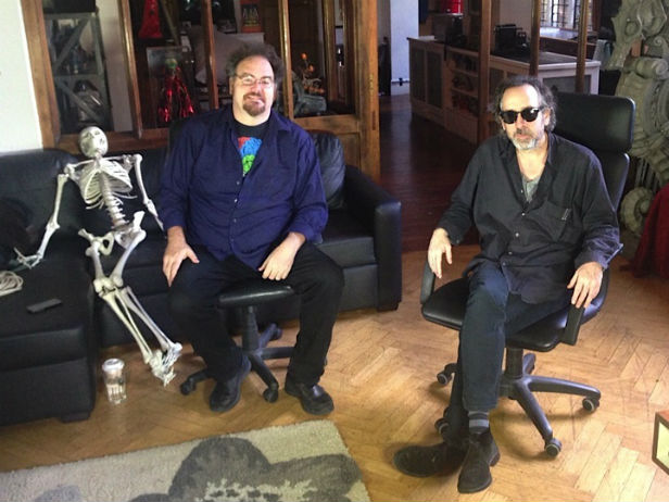 Jon Schnepp and Tim Burton in The Death of Superman Lives What Happened (2)