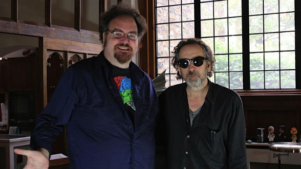 Jon Schnepp and Tim Burton in The Death of Superman Lives What Happened