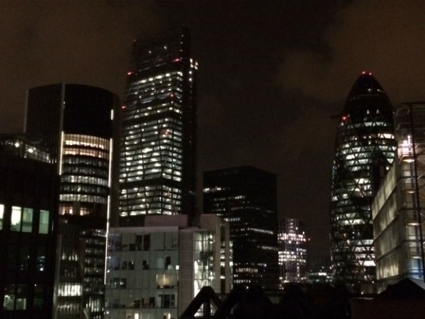 City towers at Night