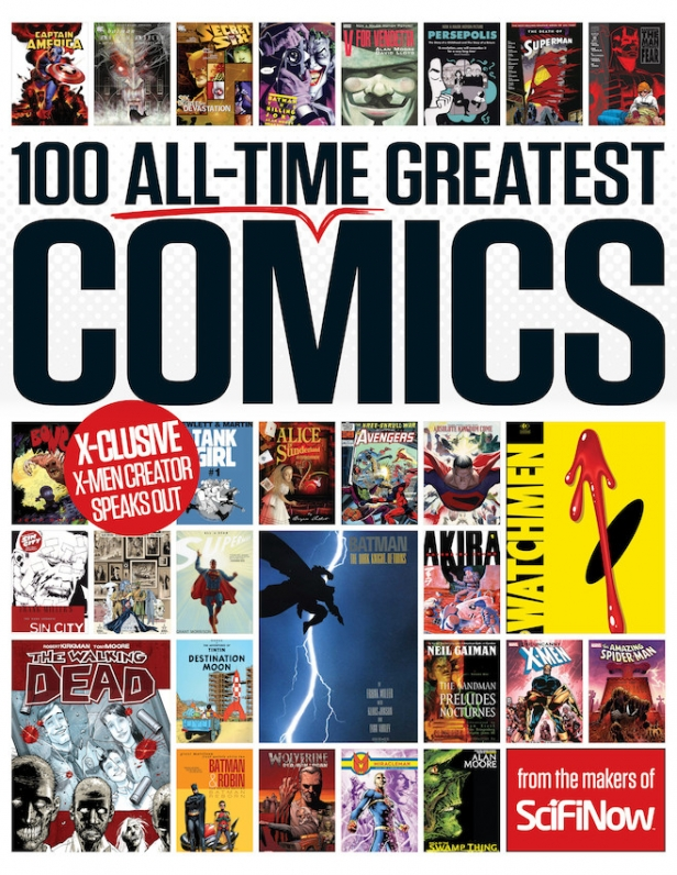 The cover for 100 All-Time Greatest Comics 001R1