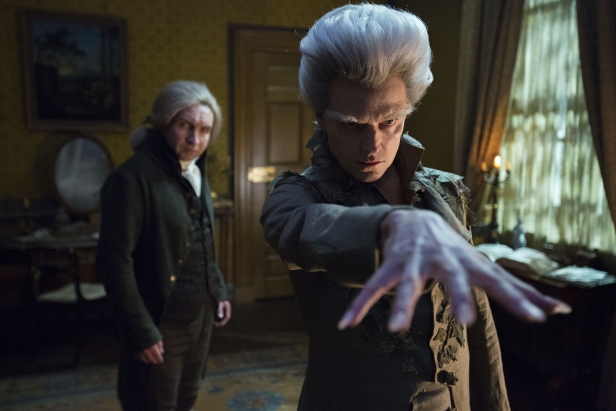 The Gentleman with the Thistle Down Hair (Marc Warren) casts a spell for Mr Norrell (Eddie Marsan)