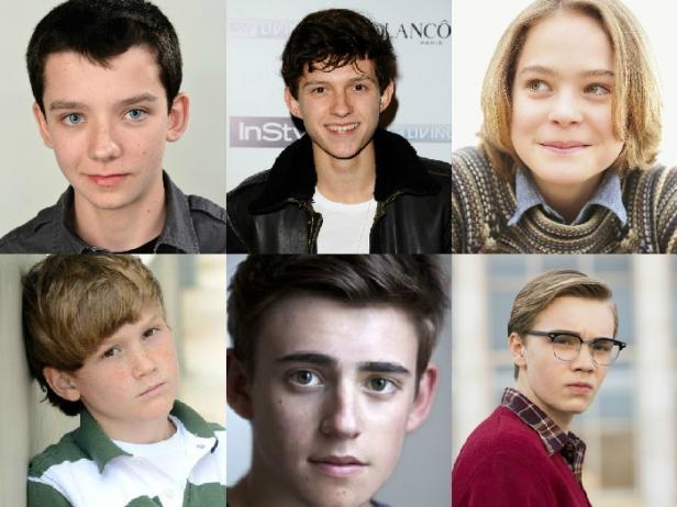 Clockwise from left: Asa Butterfield, Tom Holland, Judah Lewis, Matthew Lintz, Charlie Rowe & Charlie Plummer