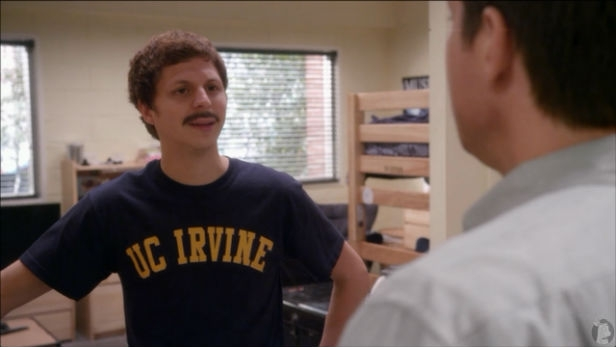 Michael Cera and moustache in Arrested Development