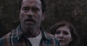 Maggie new clip Arnie protects his daughter from the zombies