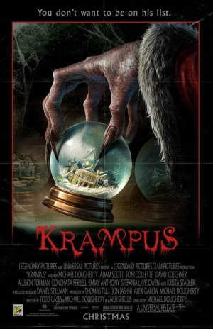 Krampus first poster is retro creepy and we love it to death