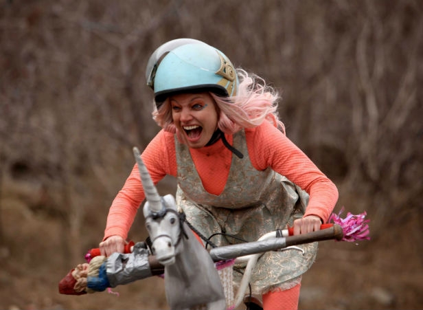 Laurence Lebeouf as Apple in Turbo Kid