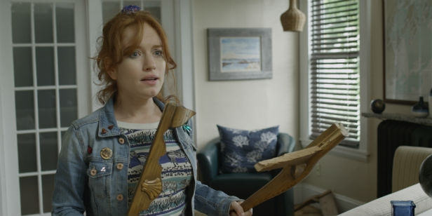 Maria Thayer is ready for the zombies as Deb
