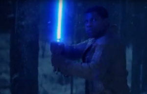 Star Wars: The Force Awakens: Kylo Ren and Finn face off
