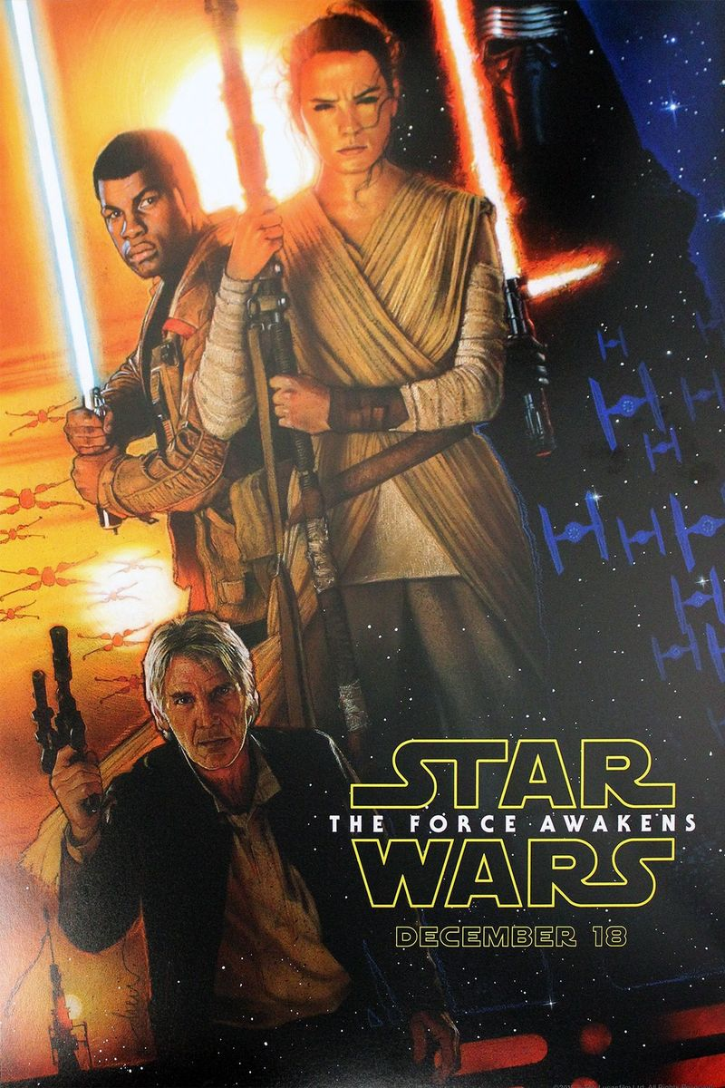 star wars 7 new poster is classic drew struzan scifinow the world 39 s best science fiction. Black Bedroom Furniture Sets. Home Design Ideas