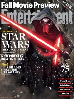 Star Wars: The Force Awakens Kylo Ren on new EW cover