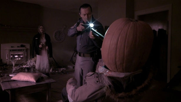 Trick or treaters have a big surprise for Chloe Rose and Robert Patrick in Hellions