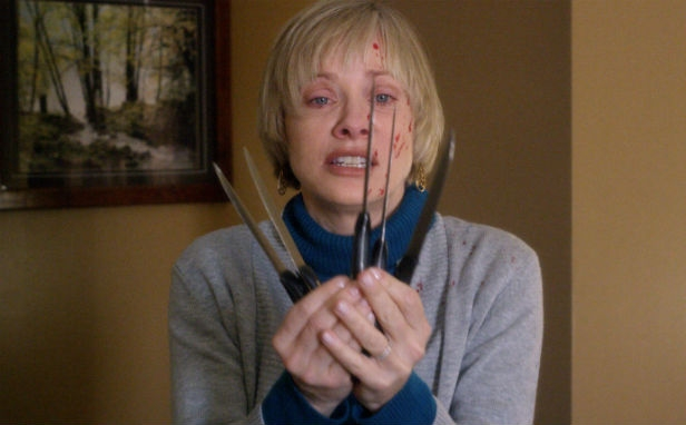 Barbara Crampton defends herself in We Are Still Here