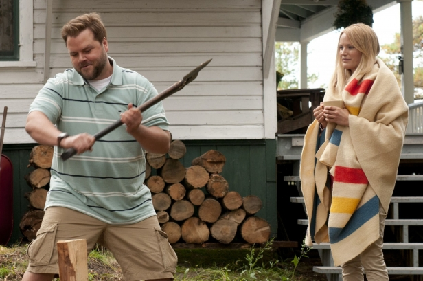 Tood (Labine) and Cammie (Malin Akerman) enjoying the peace and quiet in Cottage Country
